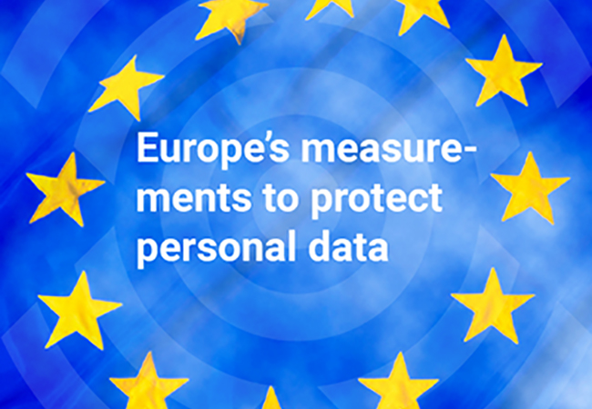 Europe's measurements to protect personal data